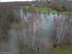 Überschwemmung Rur 24.12.17